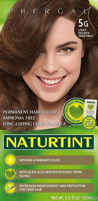 - Naturtint - Hair Dye - 5G Light Golden Chestnut | 135ml | BUNDLE by Naturtint