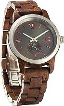 Wilds Mens Wooden Watch - Wood Grain Watch- Stainless Steel