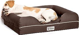 "PetFusion Small Pet Bed w/Solid 2.5"" Memory Foam, Waterproof liner, YKK premium zippers. [Chocolate Brown, 25x20x5.5""; dog..."