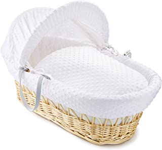 clair de lune moses basket stand white
