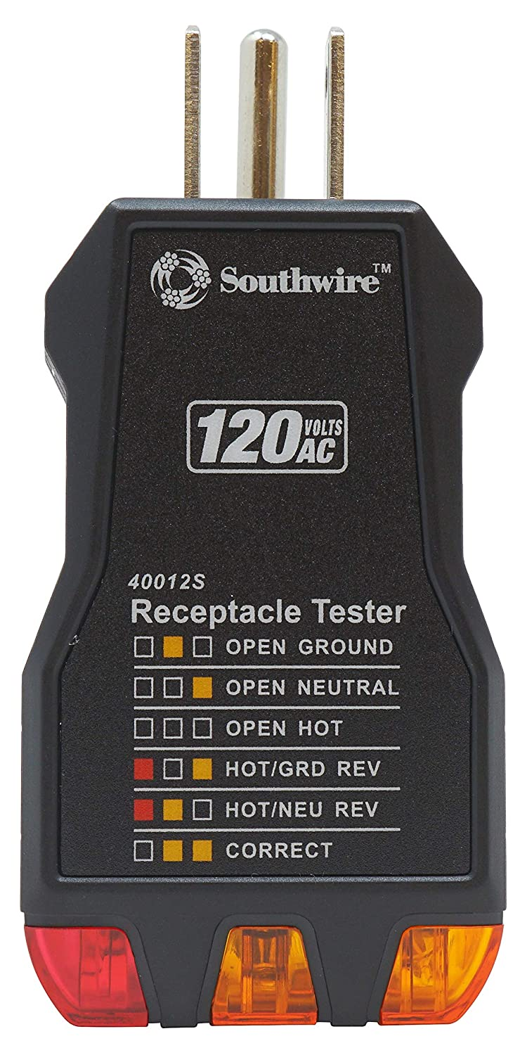 Same day shipping Southwire Tools Equipment 40012S Black Receptacle Limited price sale Tester