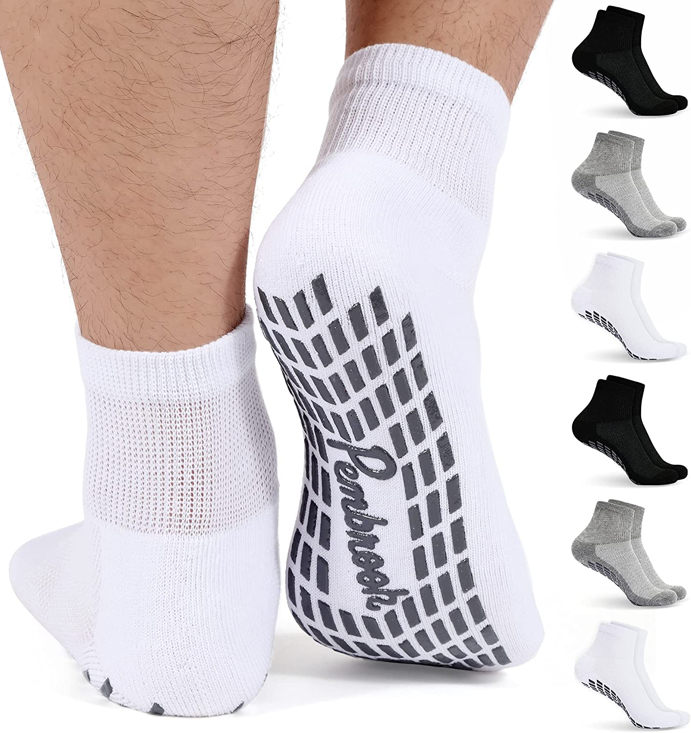 Diabetic Al sold out. Ankle Socks for Men Classic Women with 1 Grips Le Pairs 4 6