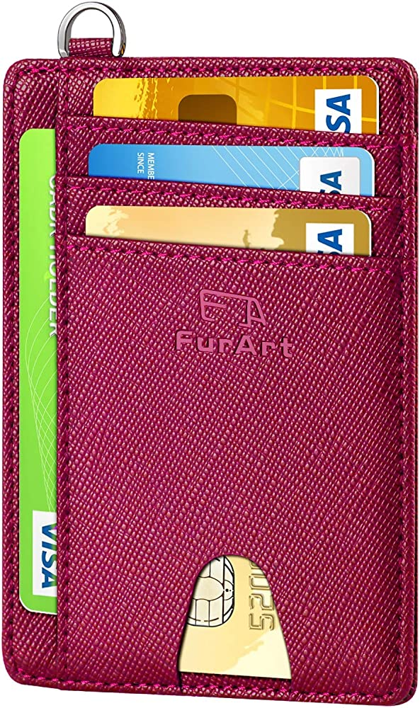 furart porta carte di credito con protezione rfid portafoglio sottile unisex fa-cw-parent