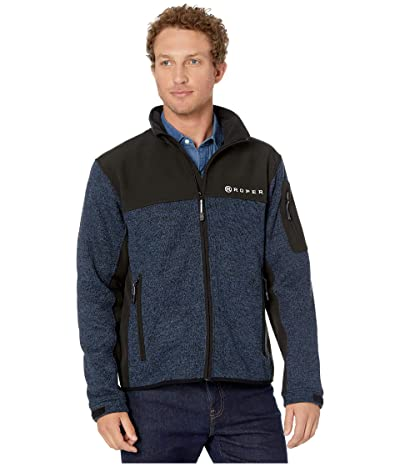 Roper 9427 Blue and Black Sweater Bonded Fleece (Blue) Men