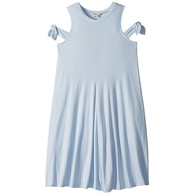 Maddie by Maddie Ziegler Knit Dress with Tie Sleeve (Big Kids) (Blue) Girl
