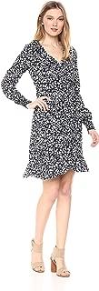 VERO MODA Women's Henna Smock Printed Wrap Dress