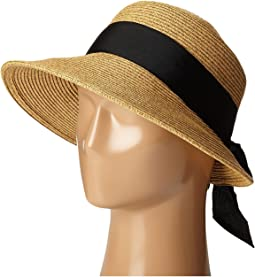 SCALA. Paper Braid Big Brim Sun Hat.  34. Paper Braid Facesaver with Ribbon  Bow 0818126b678