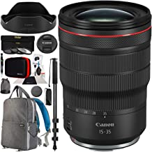 Canon RF 15-35mm F2.8L is USM L Series Wide Angle Standard Zoom 3682C002 for EOS R & RP Mirrorless Camera Bundle with 82mm Photography Filter Kit, Deco Gear Backpack Case and Accessories