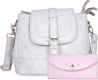 Women Hand Bag Fiesto Fashion Hand Bag for Women Light Grey (Blue)