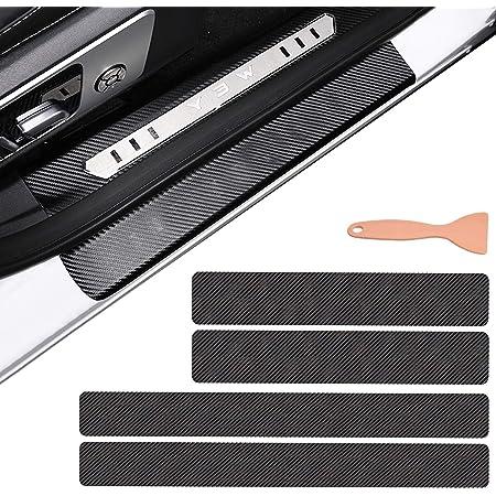 Für Xc40 V90 Xc60 Xc70 Xc90 Xc Einstiegsleisten Schutz Aufkleber Verschleiß Vermeiden Verhindern Sie Kratzer Rutschfest Kohlefaser 4stück Weiß Auto