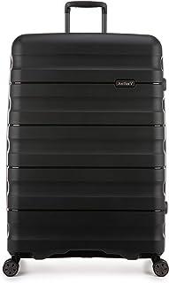 Antler Juno 2 4W Large Roller Suitcase Hardside, Black, 81cm