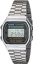 Casio Collection A168WA-1YES, Reloj Rectangular, Unisex, Plateado