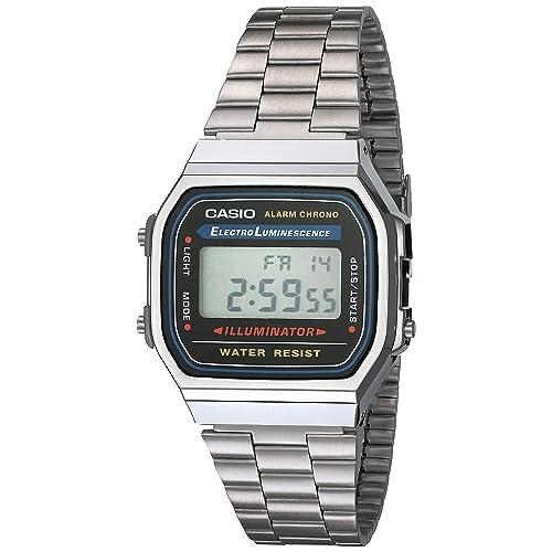 daf664e577 Casio Men's Vintage A168WA-1 Electro Luminescence Watch