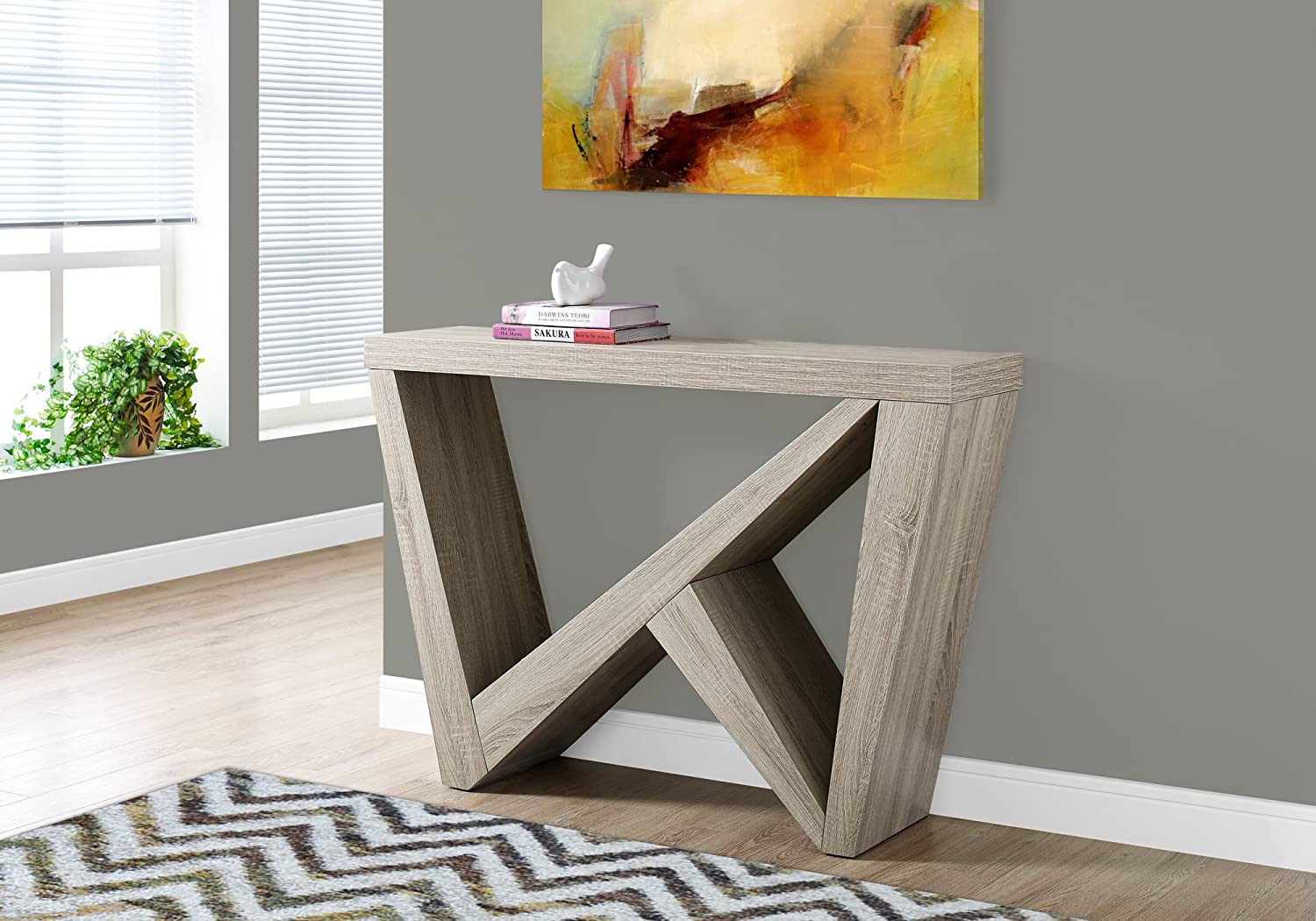Monarch Specialties I 2435 Dark Taupe Hall Console Accent Table, 48
