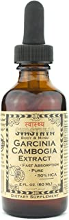 SVASTHYA BODY & MIND Pure Garcinia Cambogia Liquid Extract - Naturally Improves Mood & Helps Weight Loss, Surpresses Appetite & Boosts Metabolism, Made In The USA, Hydroxycitric Acid-GMP, (2 oz)