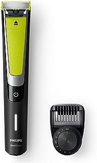 ماكينة حلاقة وتشذيب شعر ون بليد برو من فيليبس QP6505، أسود/أخضر ليموني- فضي