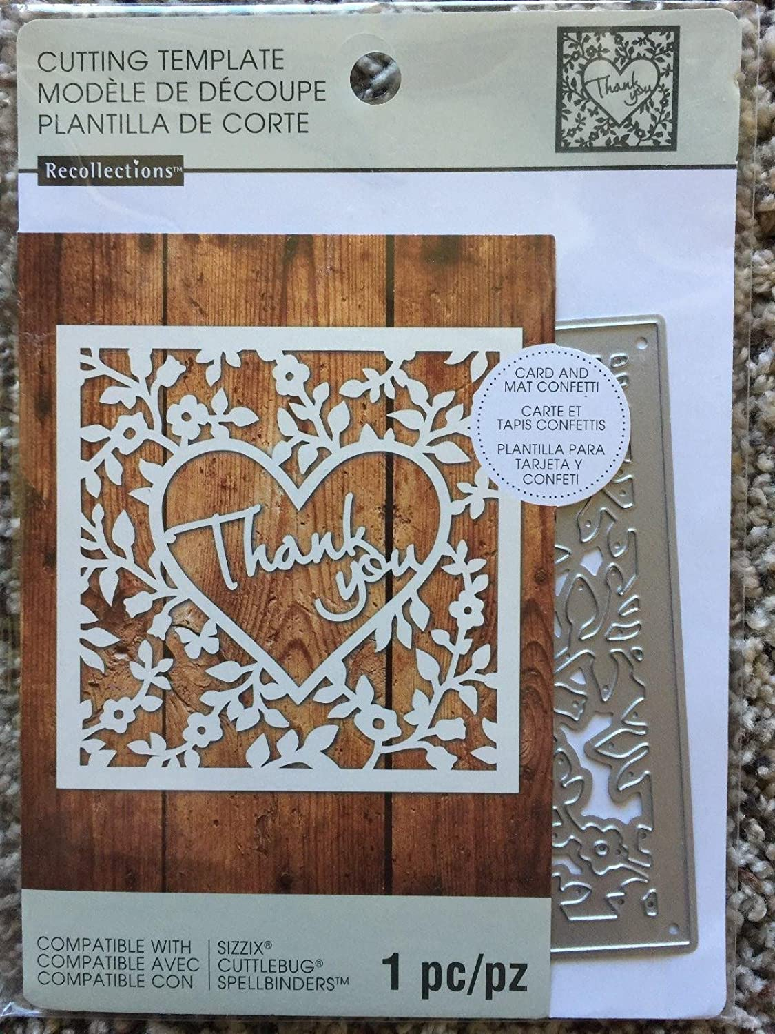Recollections Cutting Die Template 221 Thank You (21 Cutting With Recollections Cards And Envelopes Templates