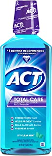 ACT Total Care Mouthwash, Icy Clean Mint,18 Fl Oz  (Pack of 3)
