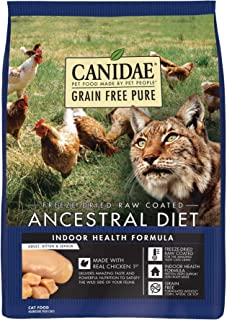 CANIDAE Grain Free Pure Ancestral Diet Freeze-Dried Raw Coated Dry Cat Food
