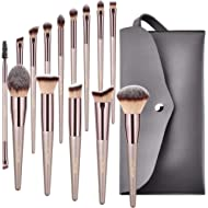 BESTOPE Makeup Brushes, Conical Handle Professional Premium Synthetic Makeup Brush Set Kit With...
