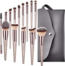 BESTOPE Makeup Brushes, Conical Handle Professional Premium Synthetic Makeup Brush Set Kit With Case Bag for Blending Foundation Powder Blush Eyeshadow,14 Count