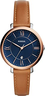 Fossil Women's Quartz Watch, Analog Display and Leather Strap