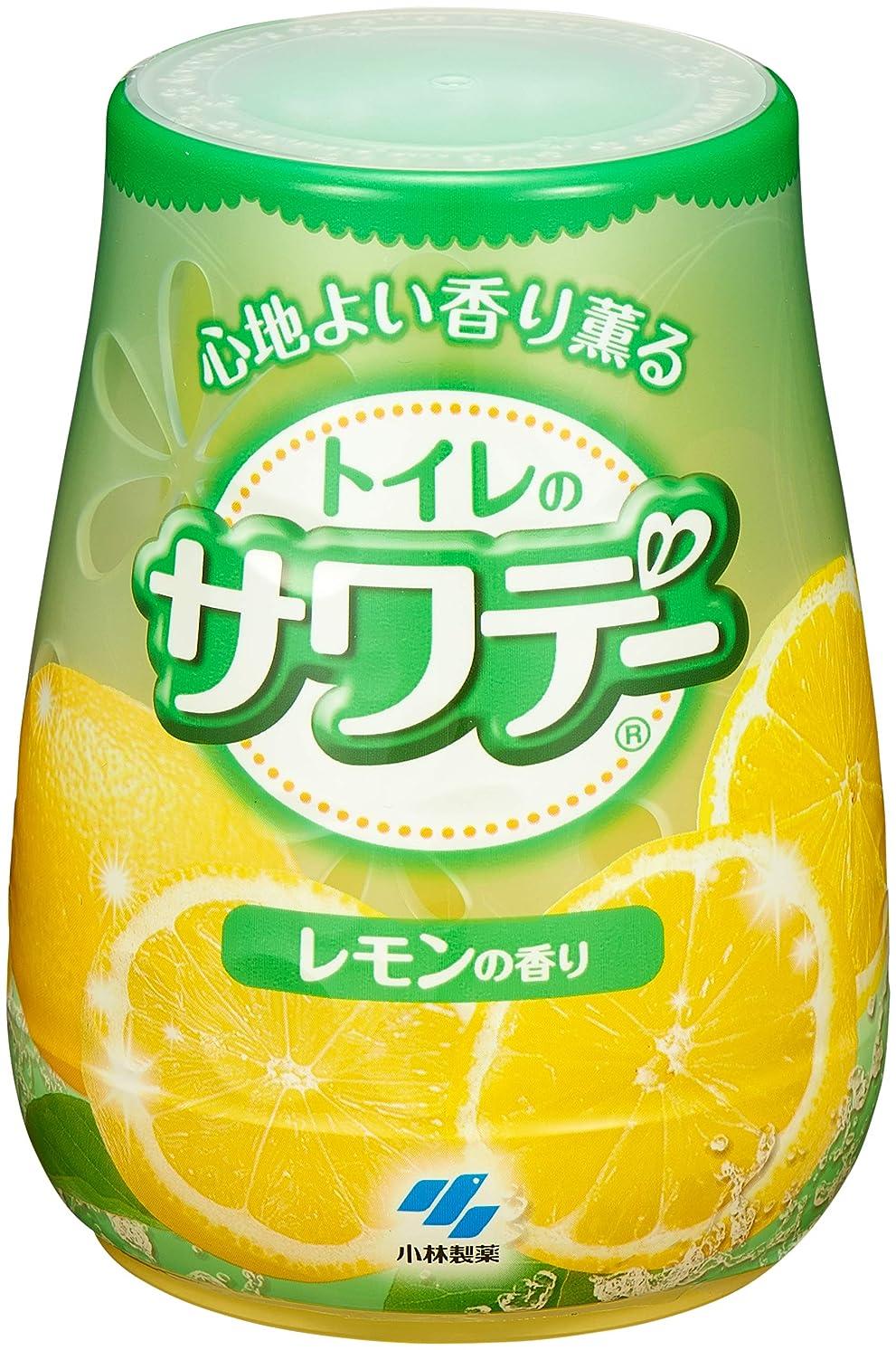 発表入学する戦うサワデー 消臭芳香剤 トイレ用 本体 気分すっきりレモンの香り 140g