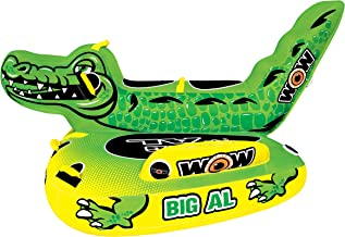 WOW Watersports Big Al 19-1070, 1 to 4 Person Towable, Saddle Seats and Deck Area - Tubing Raft Towable