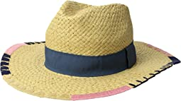 San Diego Hat Company - PBF7330OS Fedora w/ Brim Pattern and Grosgrain Band
