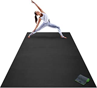 Premium Extra Large Yoga Mat - 9' x 6' x 8mm Extra Thick & Comfortable, Non-Toxic, Non-Slip, Barefoot Exercise Mat - Yoga, Stretching, Cardio Workout Mats for Home Gym Flooring (108 Long x 72 Wide)