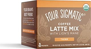 Mushroom Coffee Latte by Four Sigmatic, Organic Instant Coffee Latte Mix with Maitake,..