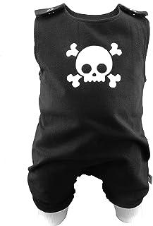 Eve Couture Babykleidung Baby Strampler Junge Skull Totenkopf Rockabilly Rock´n Roll Gothic schwarz