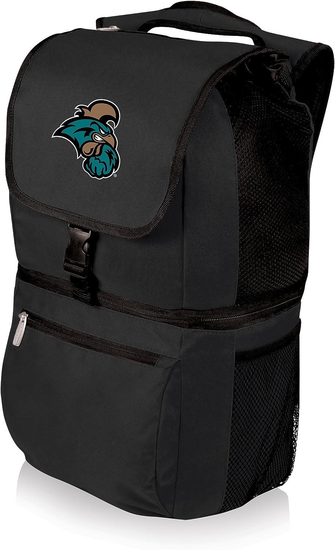 NCAA Coastal Carolina Chanticleers Zuma Insulated Cooler Backpack, Black