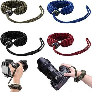 BESTZY 4PCS Braided 550 Paracord Adjustable Camera Wrist Strap/Bracelet for Cameras, Video Camcorder, Binoculars, and Othe...