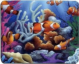 Cartoon Clown Fish Salt Water Ocean Scene Computer Mouse Pad