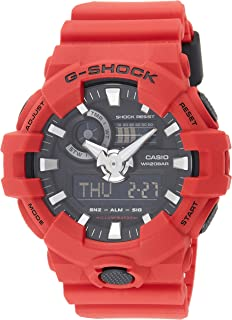 Casio G-Shock Men's Black Ana-Digi Dial Resin B and Watch - GA-700-4A