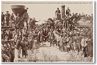 The First Continental Railroad - NEW American History Poster