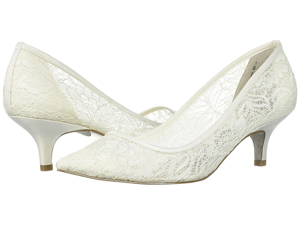 Vintage Wedding Shoes, Flats, Boots, Heels Adrianna Papell - Lois Lace Ivory 1890 Lace Womens 1-2 inch heel Shoes $118.95 AT vintagedancer.com