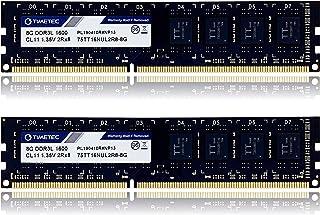 Timetec Hynix IC 16GB Kit (2x8GB) DDR3L 1600MHz PC3L-12800 Non ECC Unbuffered 1.35V/1.5V CL11 2Rx8 Dual Rank 240 Pin UDIMM...