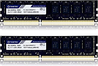 Timetec Hynix IC 16GB KIT (2x8GB) DDR3L / DDR3 1600MHz PC3L-12800 / PC3-12800 Non-ECC Unbuffered 1.35V / 1.5V CL11 2Rx8 Du...