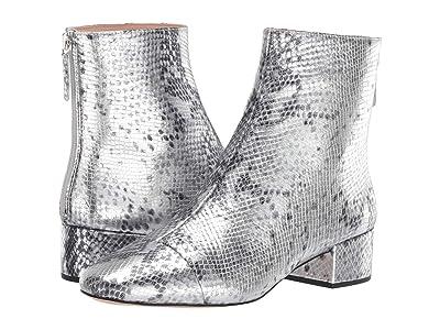 J.Crew Metallic Snake Leona Boot (Metallic Silver) Women