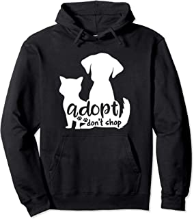 Cute Adopt Don't Stop Dog and Cat Adoption Gift Pullover Hoodie