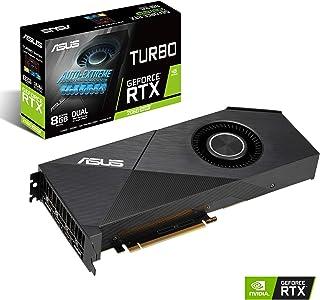 ASUS Turbo GeForce RTX 2060 Super EVO 8GB GDDR6 - Tarjeta gráfica (Cubierta rediseñada, rodamientos a Bolas, Tecnología Auto-Extreme, GPU Tweak II)