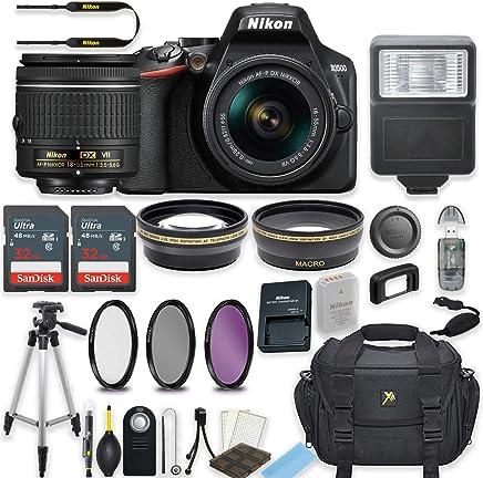 $399 Get Nikon D3500 DSLR Camera with AF-P 18-55mm VR Lens Bundle Includes 64GB Memory + Professional Camera Accessories