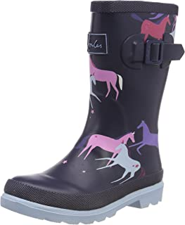 Joules Kids Baby Girl's Printed Welly Rain Boot (Toddler/Little Kid/Big Kid) Navy Magical Unicorn 12 M US Little Kid