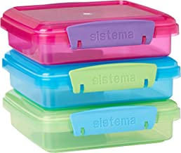 Sistema 41647 Lunch Collection Food Storage containers, Set of 3, Assorted