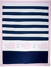 Nautica Kids Nursery Separates Comforter, Pink, Navy, White