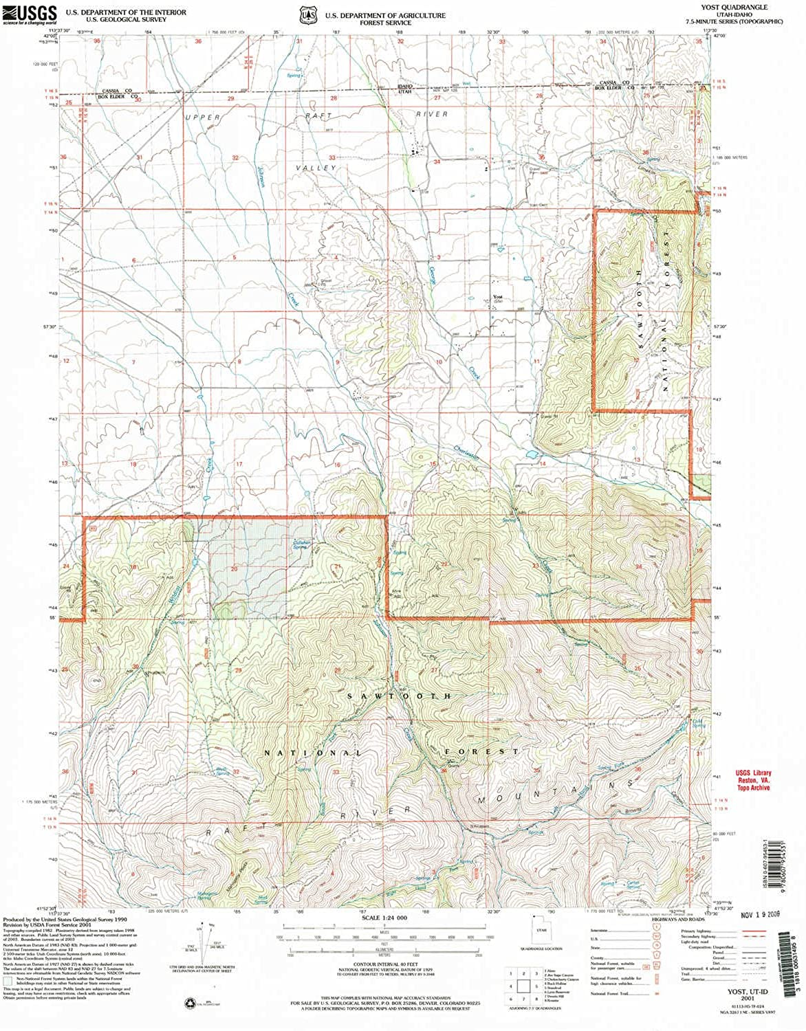 Yost UT topo map, 1 24000 Scale, 7.5 X 7.5 Minute, Historical, 2001, Updated 2006, 26.9 x 22 in