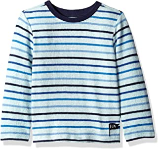 Gymboree Boys' Big Long Sleeve Basic Tee, blue/green stripe, 3T