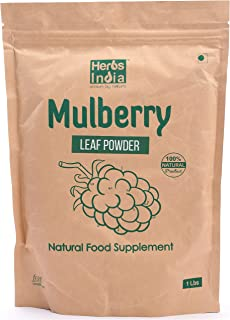 Mulberry Leaf Extract - Mulberry Leaf Powder - all Natural Raw Herb Super Food Supplement - 1 Lb - Herbs India